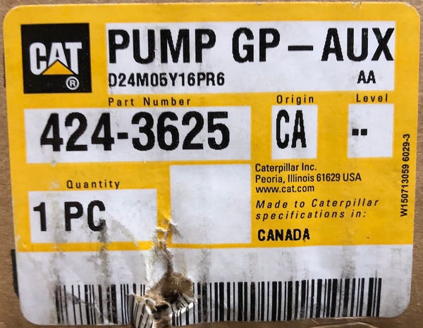 New Caterpillar water pump 4243625 (2914311, 2128166, 10R1072, 20R8813) - Yellow Power International