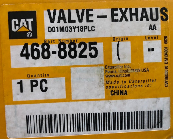 New Caterpillar exhaust valve 4688825 (4432712, 1944897)