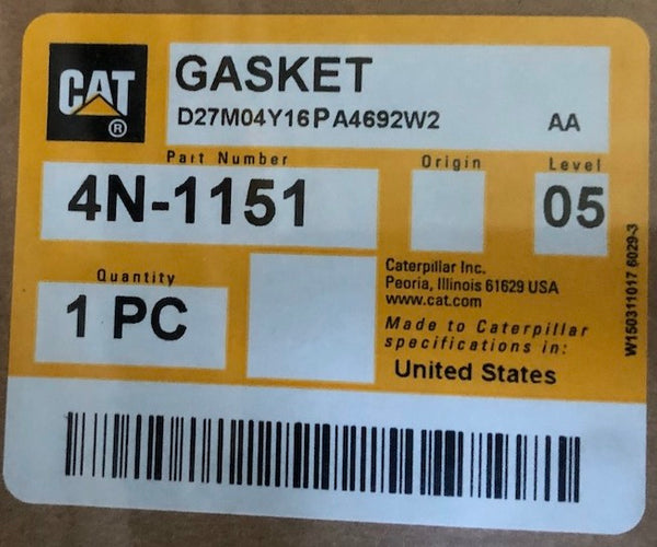 New Caterpillar oil pan gasket 4N1151 (4N3661) - Yellow Power International