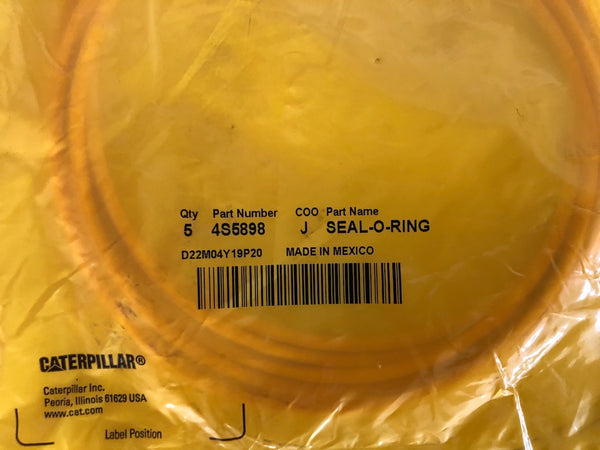 New Caterpillar seal-o-ring 4S5898 (8T7189, 4V3963) - 5 pieces
