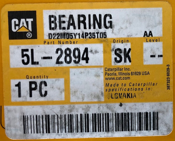 New Caterpillar bearing 5L2894