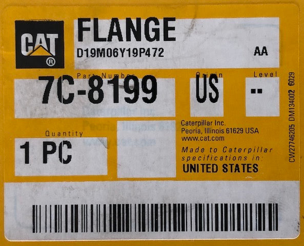 New Caterpillar flange 7C8199