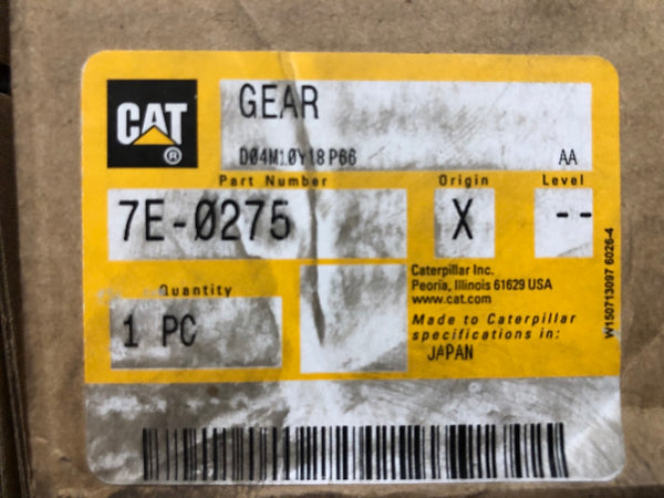 New Caterpillar water pump drive gear 7E0275 (7N5250) - Yellow Power International