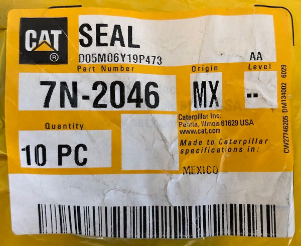 New Caterpillar seal 7N2046 - 10 pieces