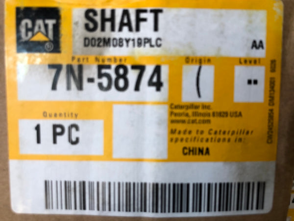 New Caterpillar shaft 7N5874 - Yellow Power International