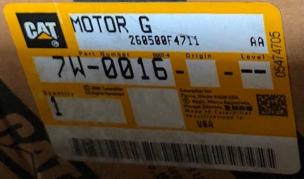 New old stock Caterpillar air starting motor 7W0016 (0R9853) - Yellow Power International