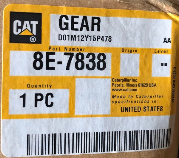 New Caterpillar gear 8E7838 (8P5228) - Yellow Power International