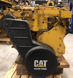 Used Caterpillar C9 marine auxiliary engine serial nr. C9J00216 rated 217 BHP / 162 BkW at 1500 rpm - Yellow Power International