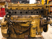 Used Caterpillar C9 marine auxiliary engine serial nr. C9J00217 rated 217 BHP / 162 BkW at 1500 rpm - Yellow Power International