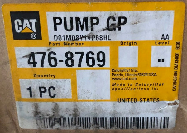 New Caterpillar hydraulic fuel injection pump 4768769 (20R1636, 3840678) - Yellow Power International