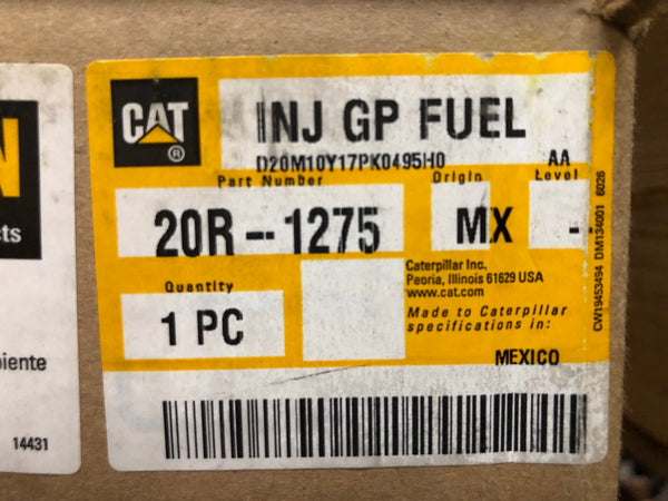 New Caterpillar Reman fuel injector 20R1275 (3920214, 3861766, 2501314) - Yellow Power International