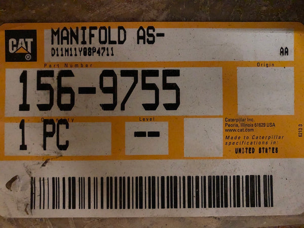 New Caterpillar fuel manifold 1569755 - Yellow Power International