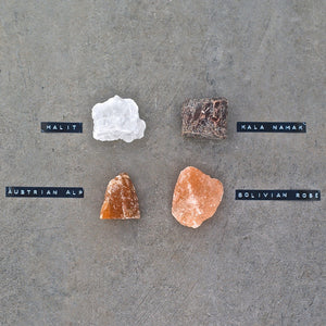 008 TASTE - SELECTION OF SALT ROCKS