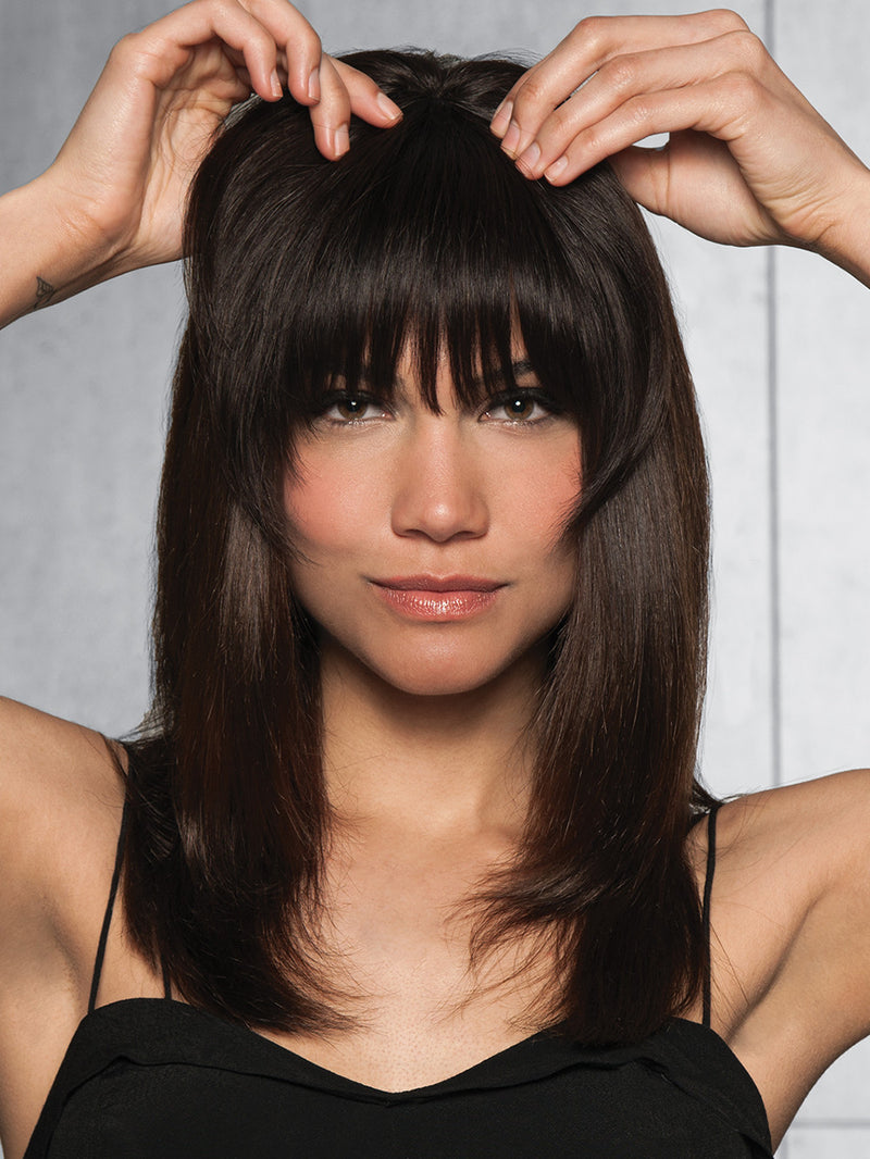 clip in bang human hair