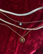 seol gold - gold silver necklace