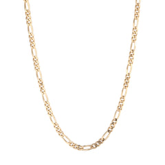 18ct gold plate figaro chain - seol gold