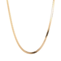 18ct gold plate herringbone chain