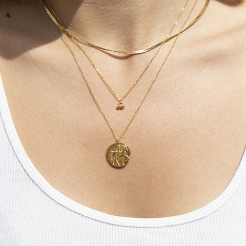 dot necklace - seol gold