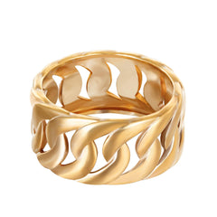 chain ring - seol gold
