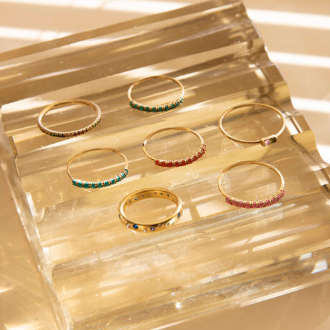 gold eternity rings -seol gold