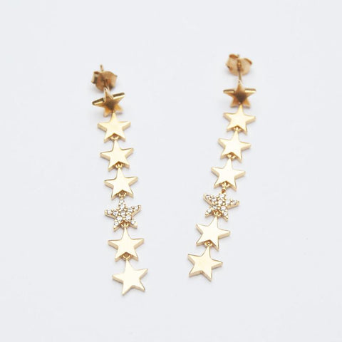 Star drop earrings Seol Gold