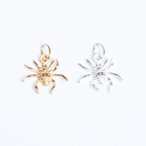 Sterling silver or 18ct gold spider charm