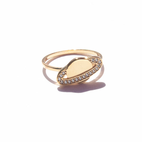18ct gold plate planet ring seol gold