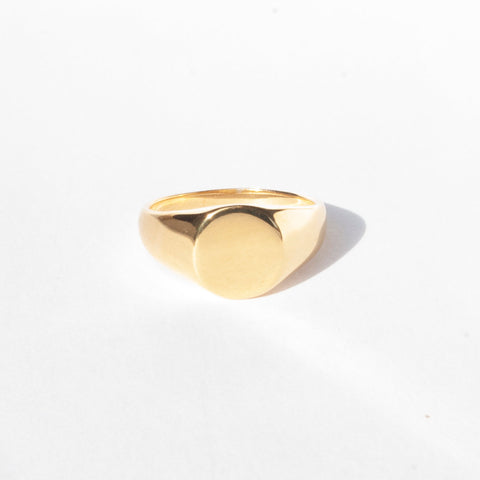 18ct gold plate signet ring