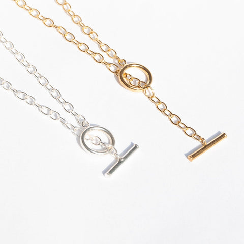 Toggle t-bar necklace Seol Gold