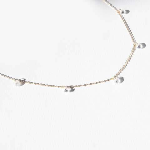 9ct floating cz necklace