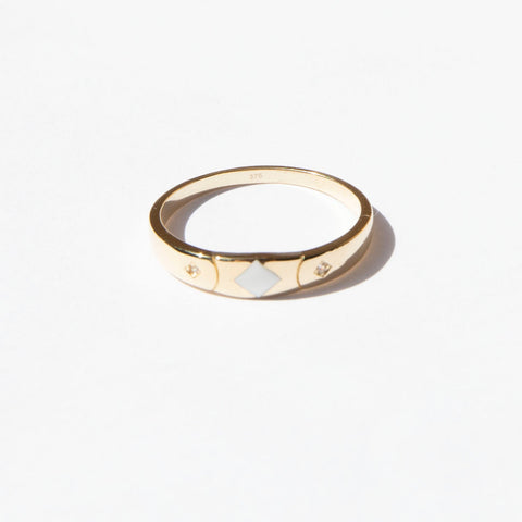 9ct enamel ring seol gold