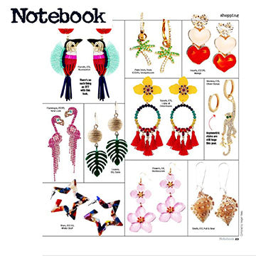 Notebook Daily mirror fashion seol+gold seolgold earrings