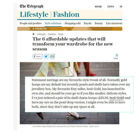 The Telegraph Online Seol+Gold feature