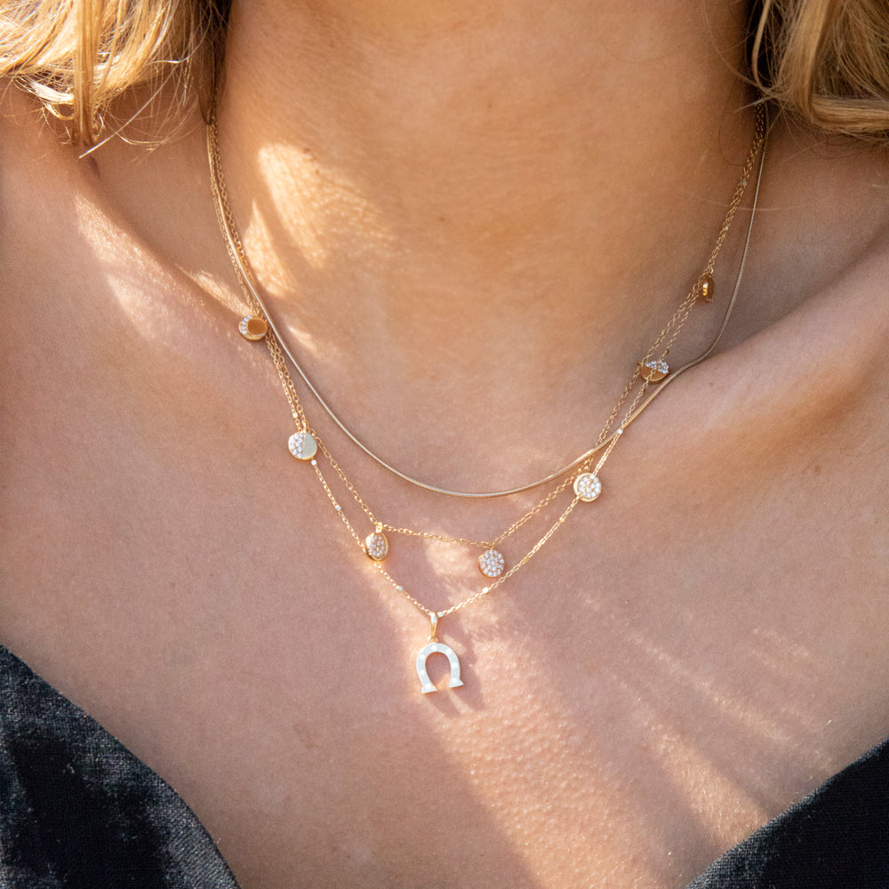 gold thin chain - seolgold