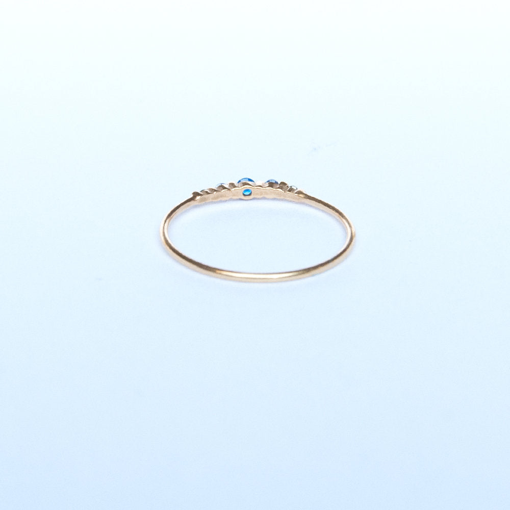 sterling silver ring - seol-gold