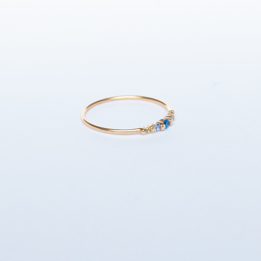 silver ring - seol-gold