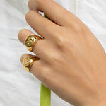 Moon Signet Ring - seol-gold