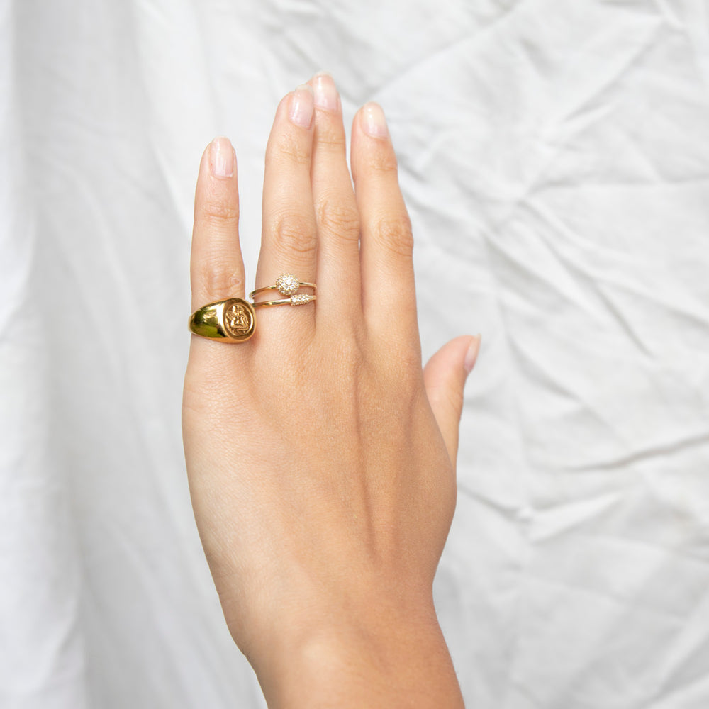 gold engagement ring - seol-gold