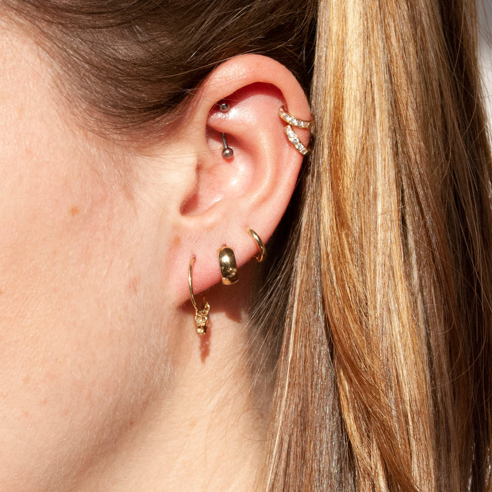 star stud earrings - seol-gold