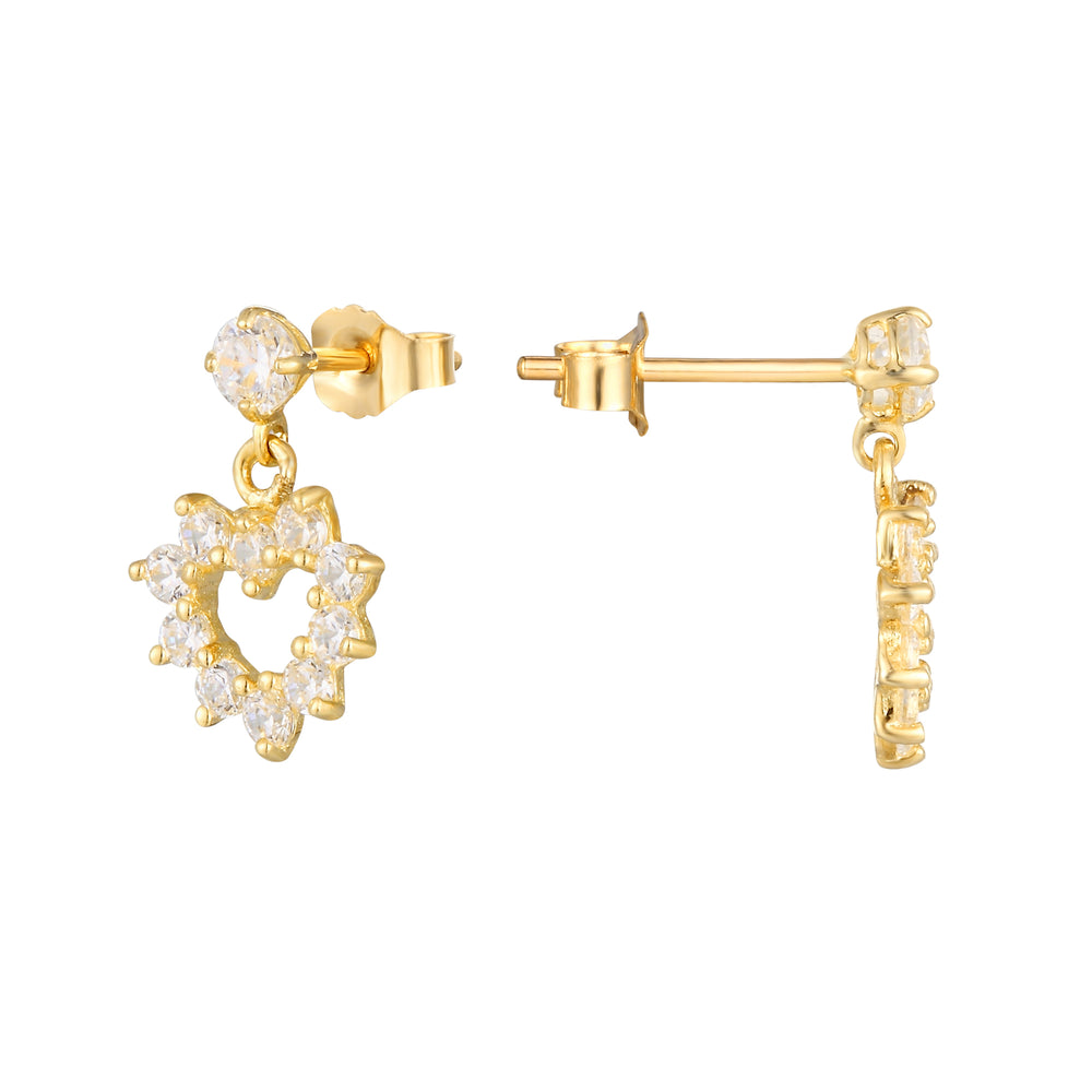 9ct gold cartilage studs- seolgold