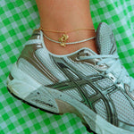 Tennis anklet chain - seol-gold