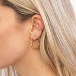 9ct gold cuff earrings - seol-gold
