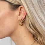 gold chunky hoops - seolgold