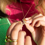 Gold heart - Friend heart necklace - seol gold