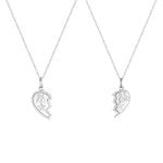 silver best friend necklace - seolgold