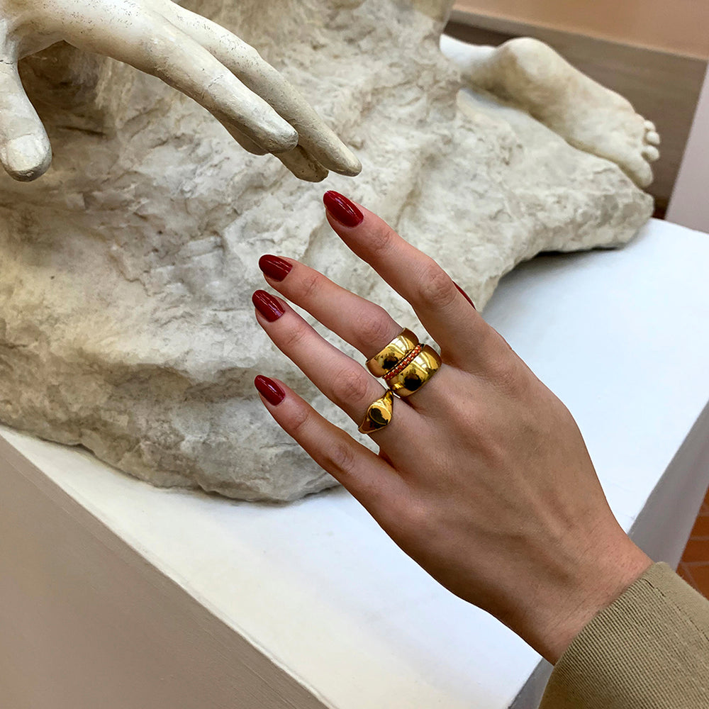 gold - Coral ring - seolgold
