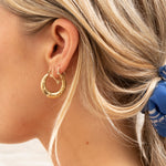 silver hoops - seol-gold