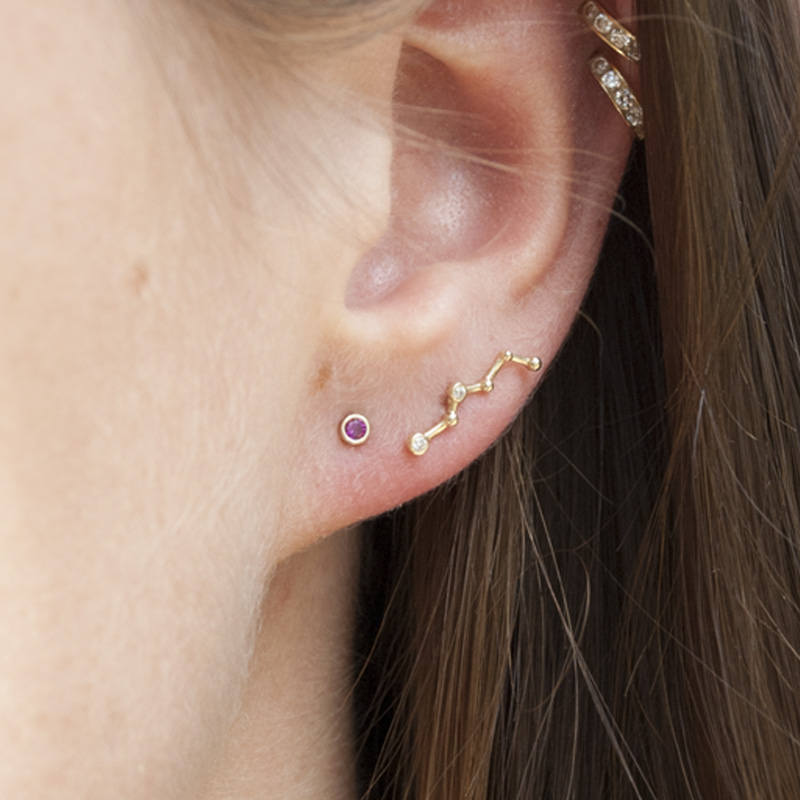 Gold Constellation Stud - seol-gold