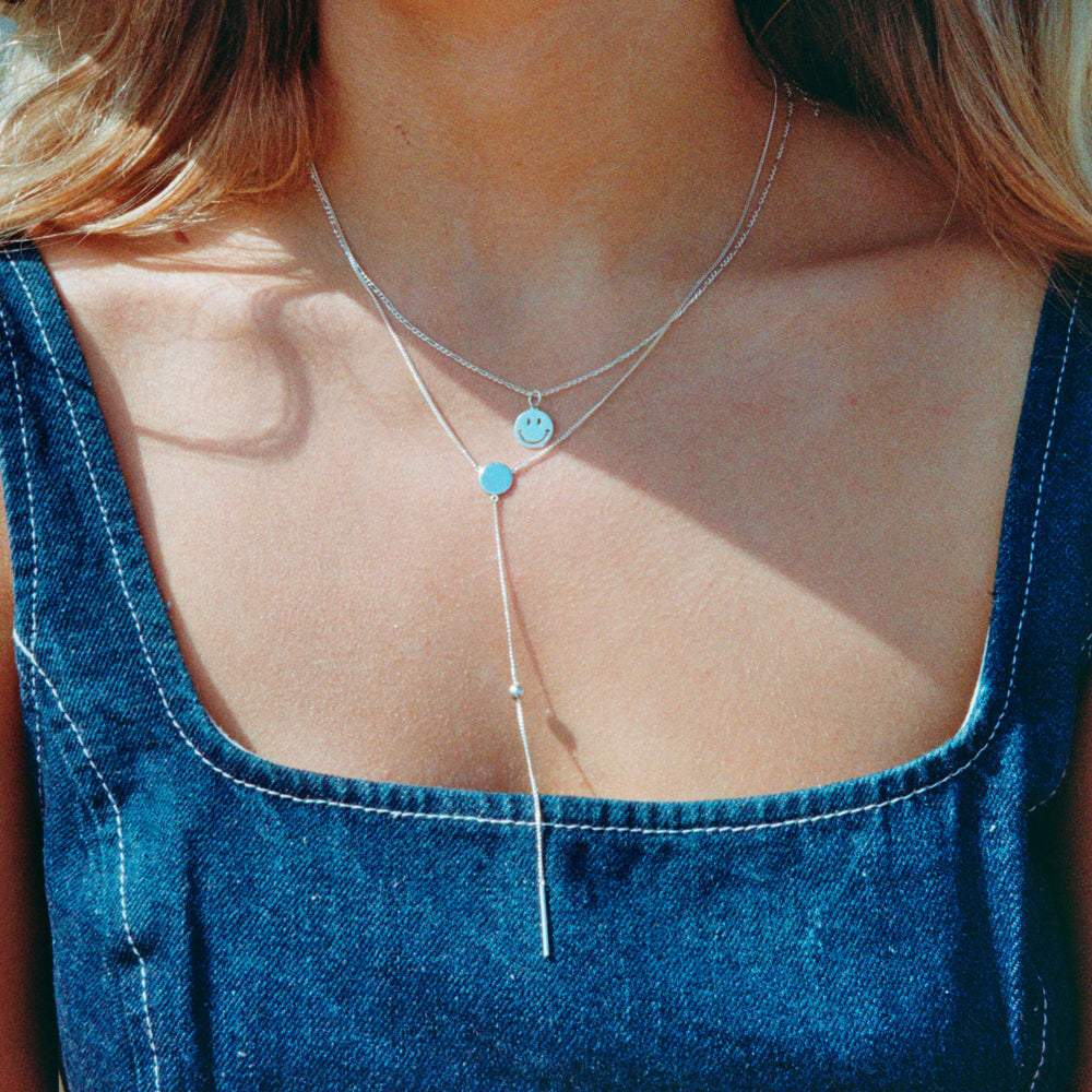 Lariat Necklace - seol-gold