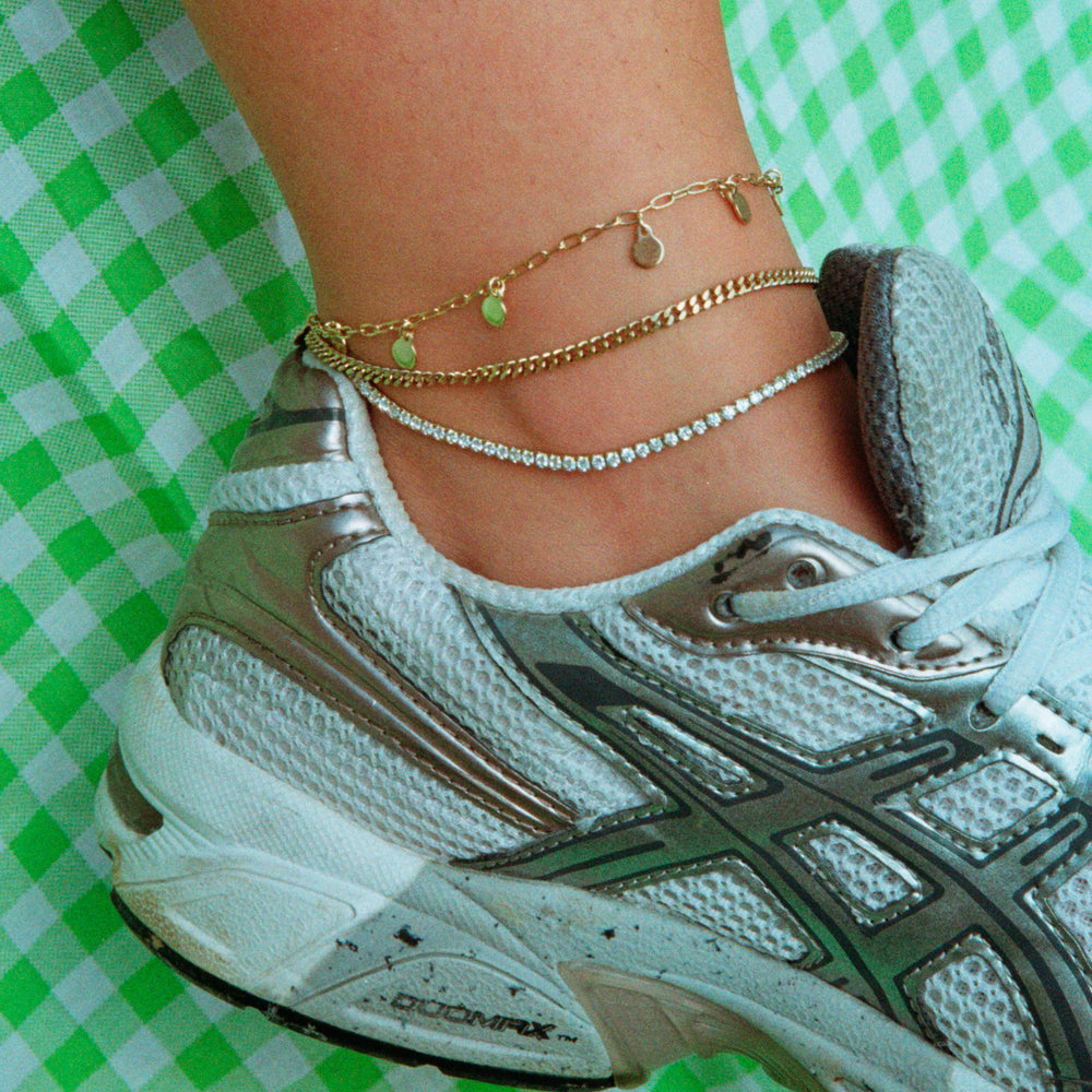 Silver Charm ankle chain - seol-gold